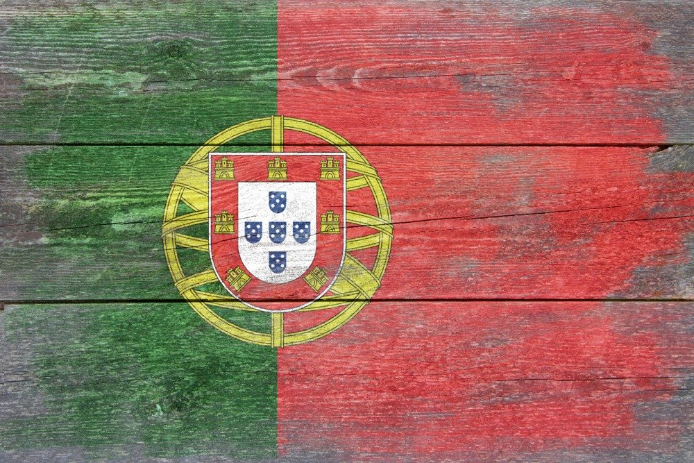 Rustic Portugal Country Flag (24x16 Gallery Quality Metal Art)