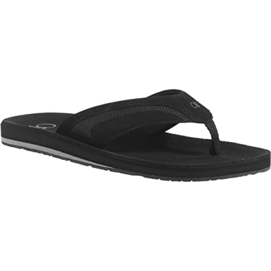 38739e4666e Ocean Pacific OP Men s Beach Perforated Thong Sandal Black Size  L 11-12