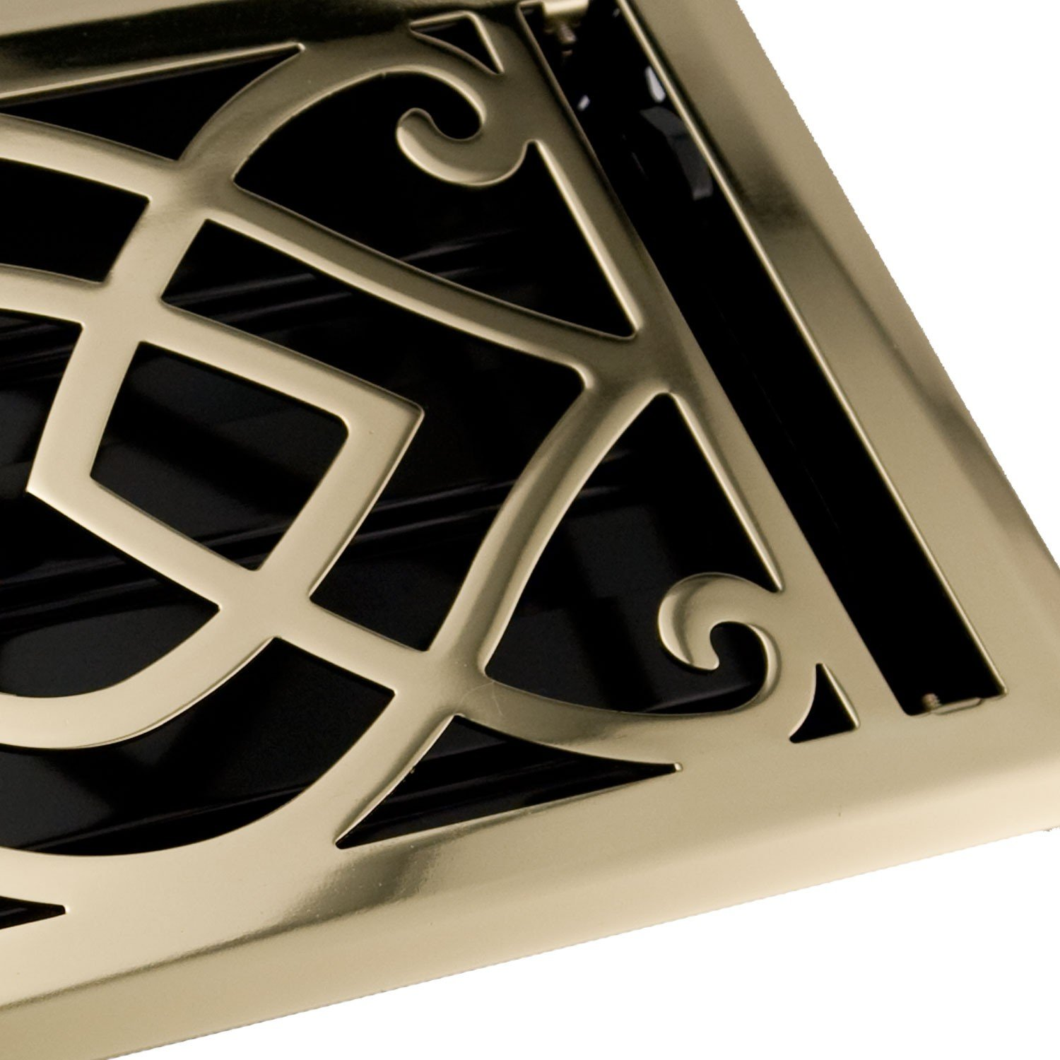 Naiture 4'' x 14'' Steel Wall Register Victorian Style Polished Brass Finish