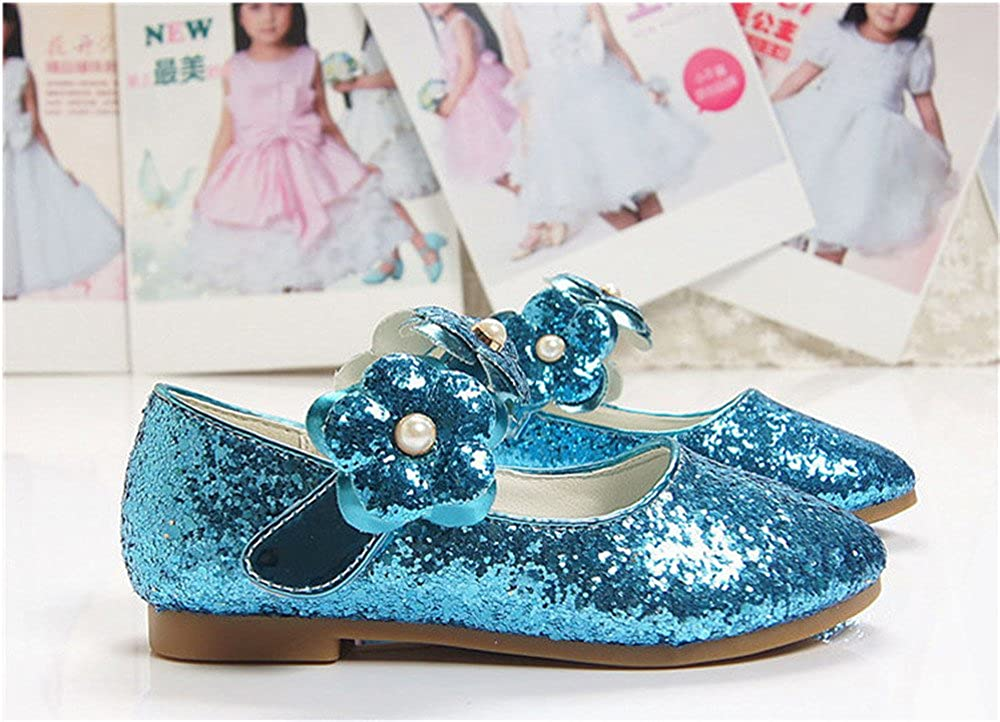 SUNNY Store Toddler Girls Summer Closed Toe Bling Sandals Princess Flat Shoes with Bowknot