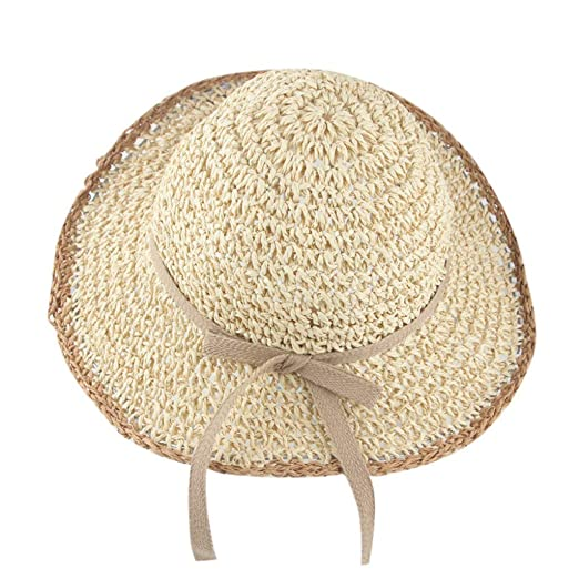 878a80afe Amazon.com: UCQueen Straw Hats for Kids Beach Baby Toddler Kids ...