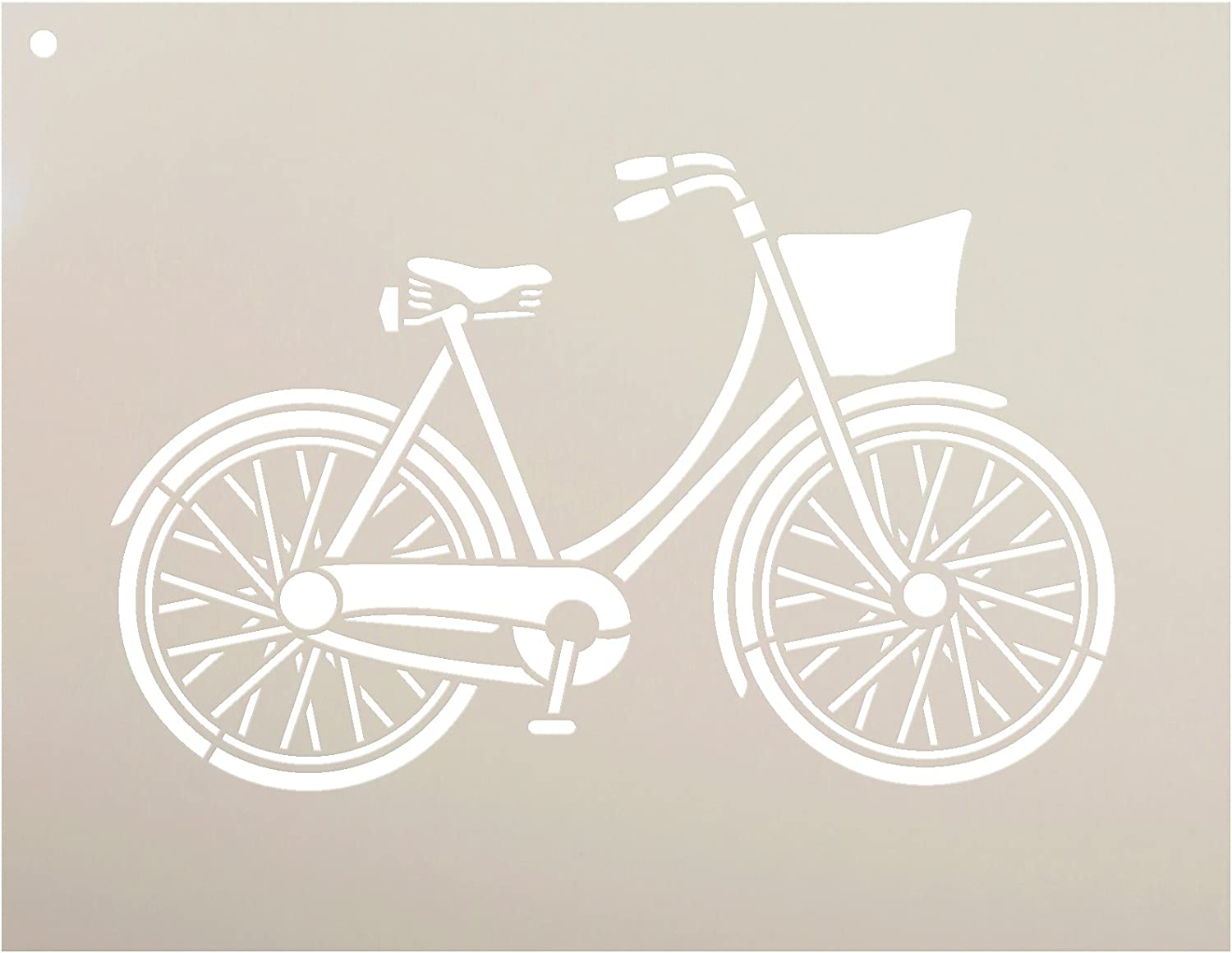 Bicycle Stencil by StudioR12 | Fun Vintage Art - Reusable Mylar Template | Painting, Chalk, Mixed Media | Use for Wall Art, DIY Home Decor - Choose Size (11