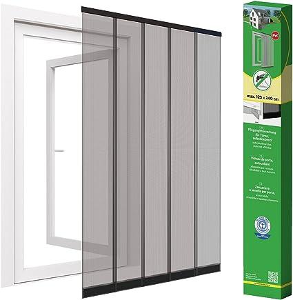 Cortina de puerta mosquitera para puerta de discos de hasta 125 x 240 cm, negro: Amazon.es: Hogar
