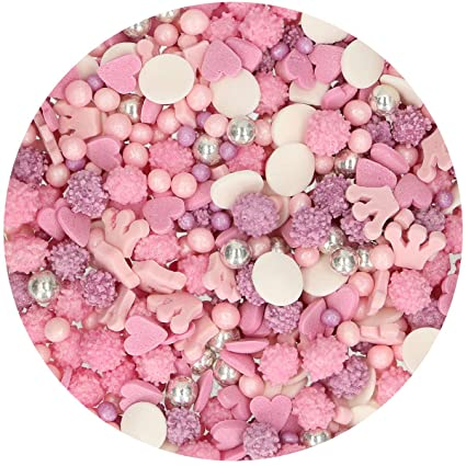 Mélange de Confettis en Sucre Princesse Funcakes 180g: Amazon.es: Alimentación y bebidas