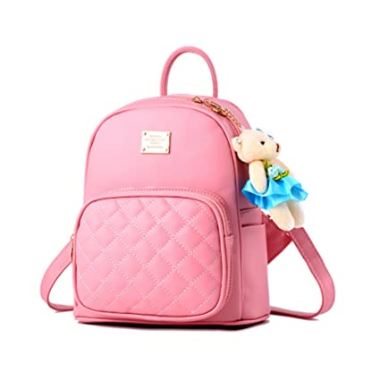 49b696b4e3 Women Leather Backpack Purse Satchel School Bags Casual Travel Daypacks for  Girls Mini Backpack  Amazon.ca  Luggage   Bags