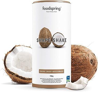 foodspring Shape Shake, Sabor Coco, 750g, Batido saciante ...