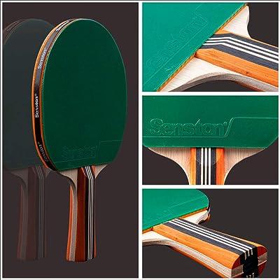 Senston Table Tennis Bats 2 Player Set Ping Pong Paddle Set with Racket Case