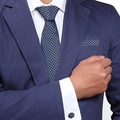Y&G H5142 azul Damas Regalo Para Entrevista Corbata de seda ...