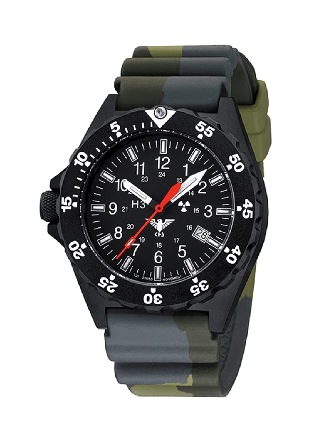 KHS Shooter KHS.SH.DC3 Diverband Camouflage Oliv inkl. Watch-Glass-Protection Schutzfolie