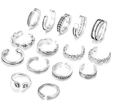 Amazon.com: Finrezio - Juego de 15 anillos para los dedos de ...