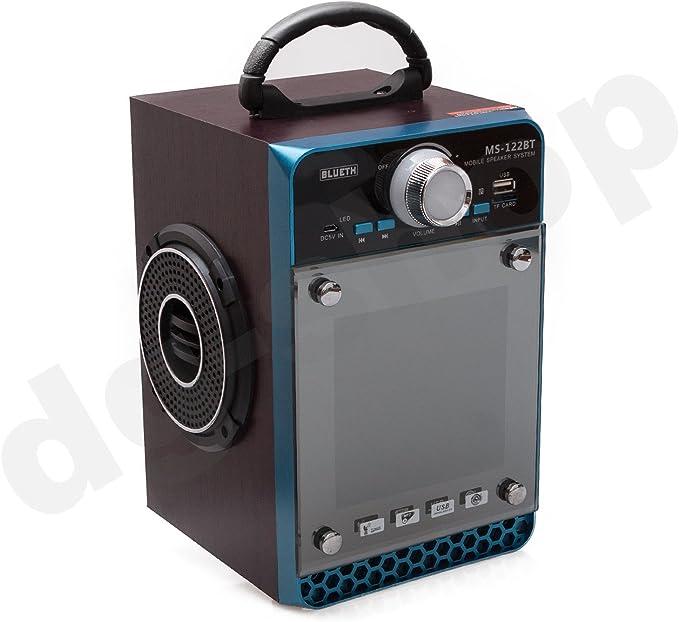 Azul MS de 122bt Bluetooth Altavoces estéreo y portátil ...