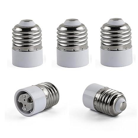 Paquete de 5 adaptadores Efly de E27 a MR16, conversor del casquillo estándar E26 o E27 ...
