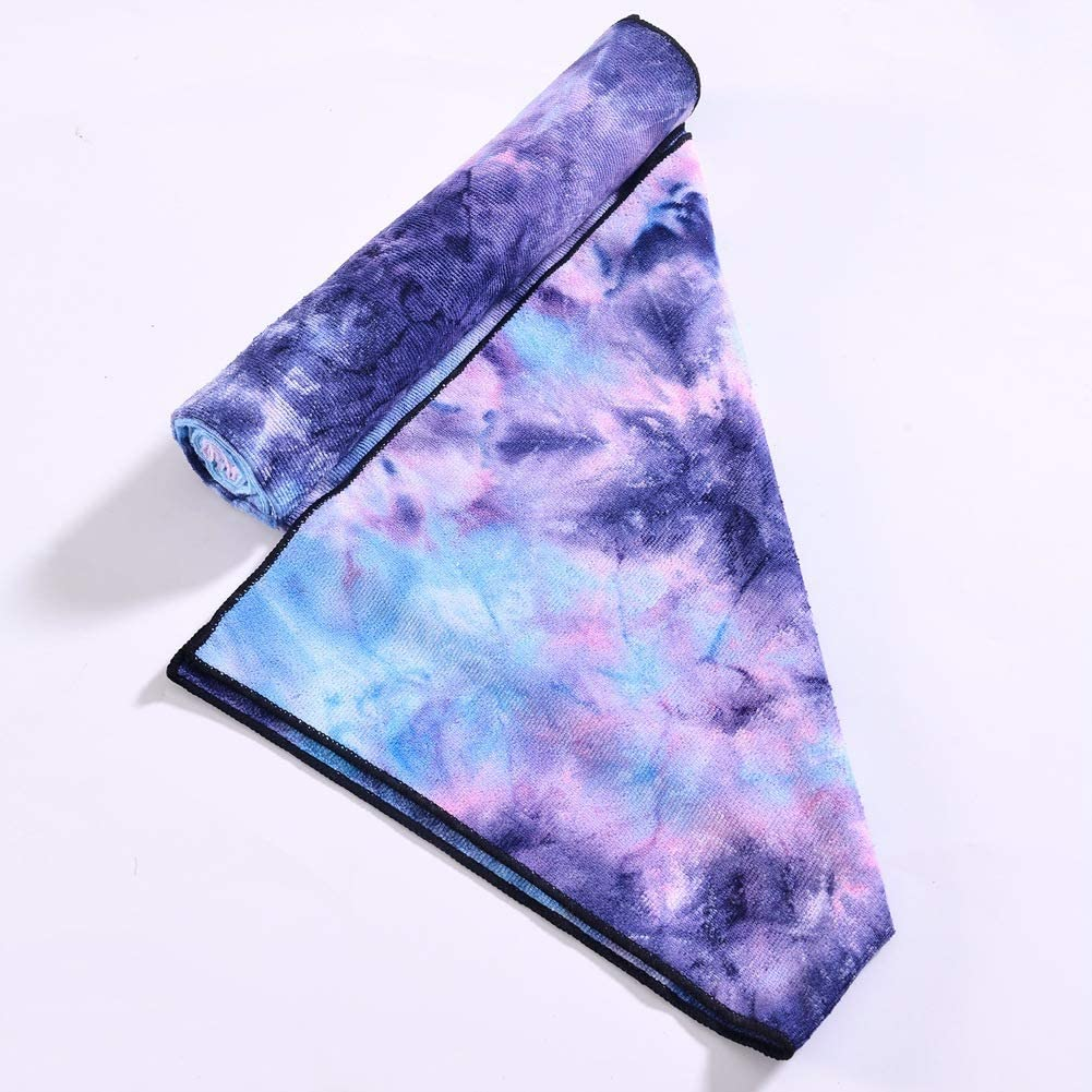 PJSNEW Sports Microfiber Towel-Large Size 55 -28 Tie-Dye Lightweight Skin-Friendly Fast Quick Dry Gym Travel Sports Beach Towels More with Carrying Bag