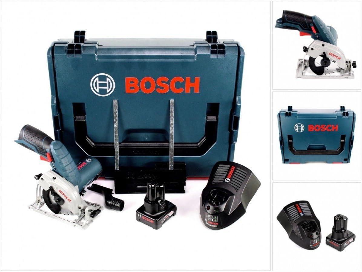 Bosch Sierra circular de mano GKS 12 V-26, 12 V, 85 mm, en caja L-Boxx, incluye 1 batería de 6,0 Ah y cargador.