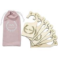 Premium houten babykleerkastverdelers, set van 7, van pasgeboren tot 24 maanden, babykastorganizers, kinderkamerdecor…