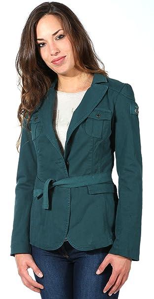 Aeronautica Militare - Chaqueta de traje - Manga Larga - para mujer Verde azul 36: Amazon.es: Ropa y accesorios