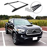 ANTS PART Roof Rack Rails for 2005-2020 Toyota Tacoma Double Cab Cross Bars Black
