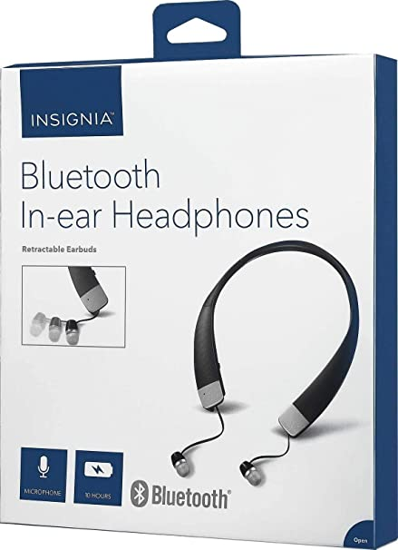 35680bbac0d Amazon.com: Insignia - NS-CAHBTEB02 Wireless In-Ear Headphones ...