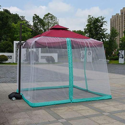 BCXGS Sombrilla al Aire Libre Mosquitero para la Mesa de terraza Sombrilla de jardín, Mosquitera de Malla Convierte tu sombrilla en un Carpa, 300 x 300 x 230cm: Amazon.es: Hogar