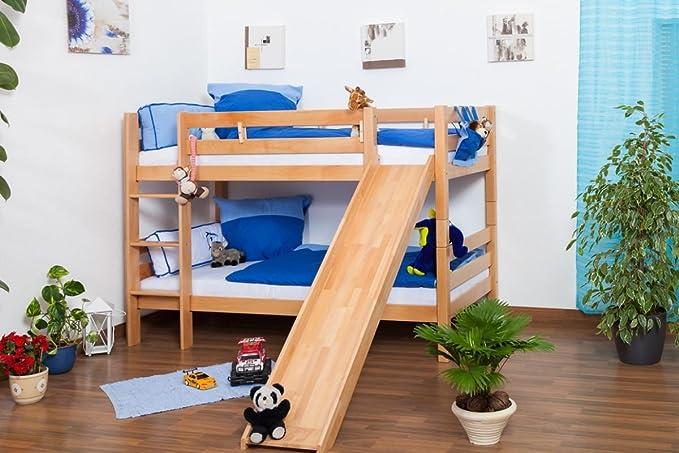 Etagenbett Moritz Mit Rutsche : Kinderbett etagenbett moritz buche vollholz natur massiv mit