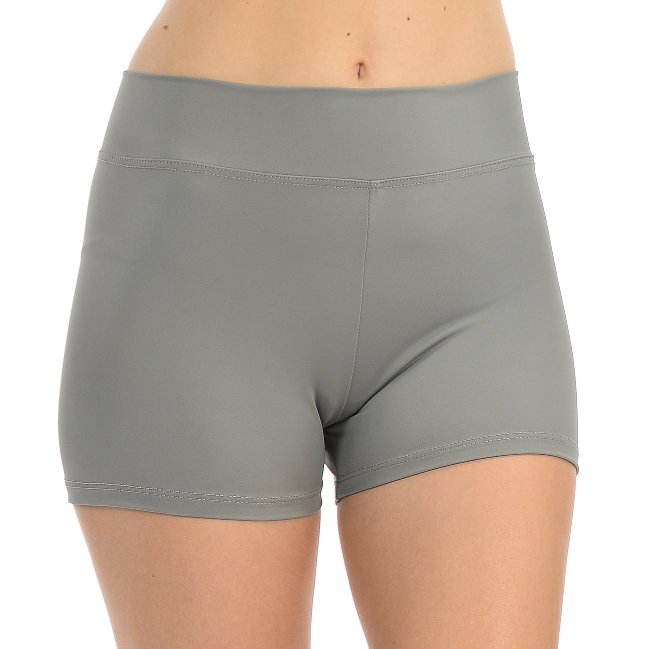 ANZA Girls Active Wear Dance Booty Shorts-Grey,Small(5/6) by Anza Collection