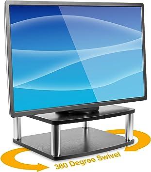 Mount-It! Soporte Giratorio para TV de 2 Niveles | Elevador Giratorio de TV | Lazy