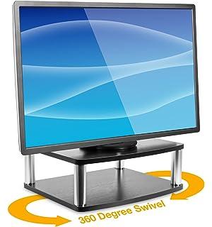 Amazon Com Convenience Concepts Designs 2 Go 2 Tier Swivel Tv Stand