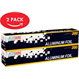 Aluminum Foil – 2-Pack of 200 Square Foot Roll - 12 Inch Silver Paper Wrap - Chemical & Toxin-Free Food Wrapping Paper - Safe for Grill - (400 Sq. Feet)