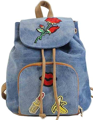 Bluebags Mochila Vaquera con Solapa y Emojis, Mujer, Jeans Unica: Amazon.es: Zapatos y complementos