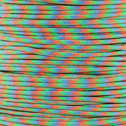 Paracord Planet 550 Cord Type III 7 Strand Paracord 100 Foot Hank - Fruity Pebbles - Three Pebbles