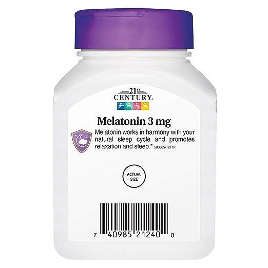 Amazon.com: 21st Century Melatonin 3 mg Tablets, 90 Count: Health ...