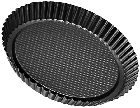 Zenker Pâtisserie-Molde Rizado para Tartas, diámetro 28 cm, Color Negro, Acero