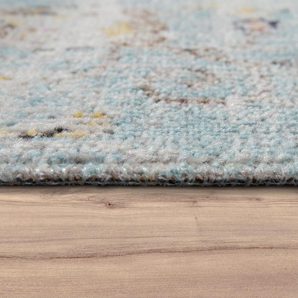 840bb35ff7e73b Amazon.de: Paco Home In- & Outdoor Teppich Modern Orient Print Terrassen  Teppich Wetterfest Türkis