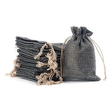 Amazon.com: YUXIER 100 bolsas de arpillera con cordón para ...