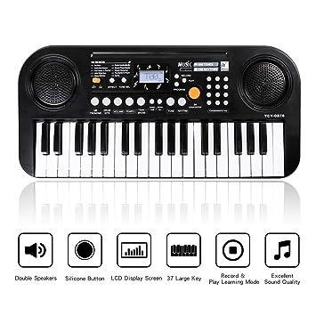 Shayson Piano para niños, 37 Teclas multifunción, Teclado electrónico, Piano, órgano de Piano con Pantalla LCD, Juguete Educativo para niños pequeños, ...