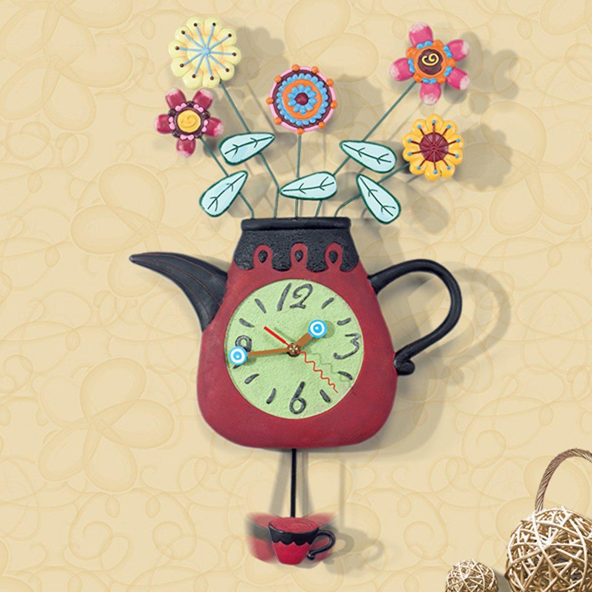 壁時計 壁掛け 掛け時計 wall clock 壁掛け振り子時計 北欧 かわいい 時計 おしゃれ アンティーク 子供部屋 樹脂 OSONA B01I3BDWY8