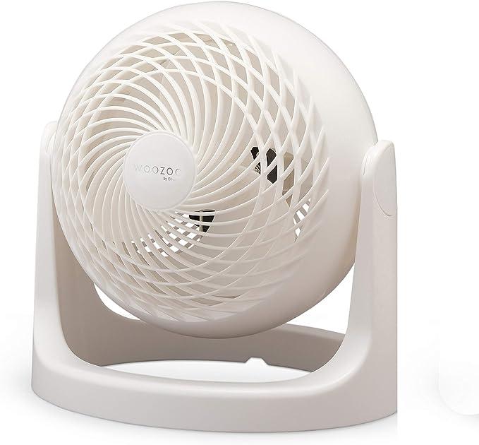 Iris Ohyama - Ventilador de mesa potente y silencioso, ángulo ajustable de 360 ° - Woozoo PCF-HE18 - Blanco, 32,2 x 28,5 x 28,5 cm: Amazon.es: Oficina y papelería