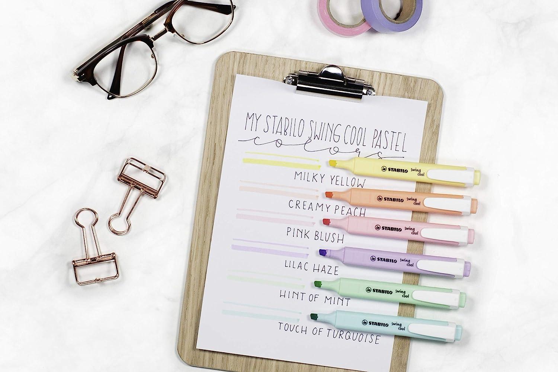 Marcador pastel STABILO swing cool - Estuche con 4 colores: Amazon ...