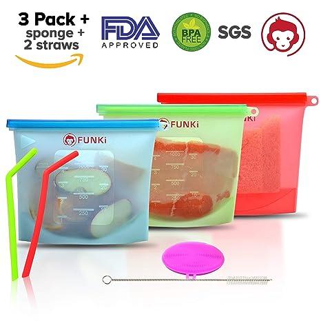 bolsas de almacenamiento reutilizables de silicona,a prueba ...