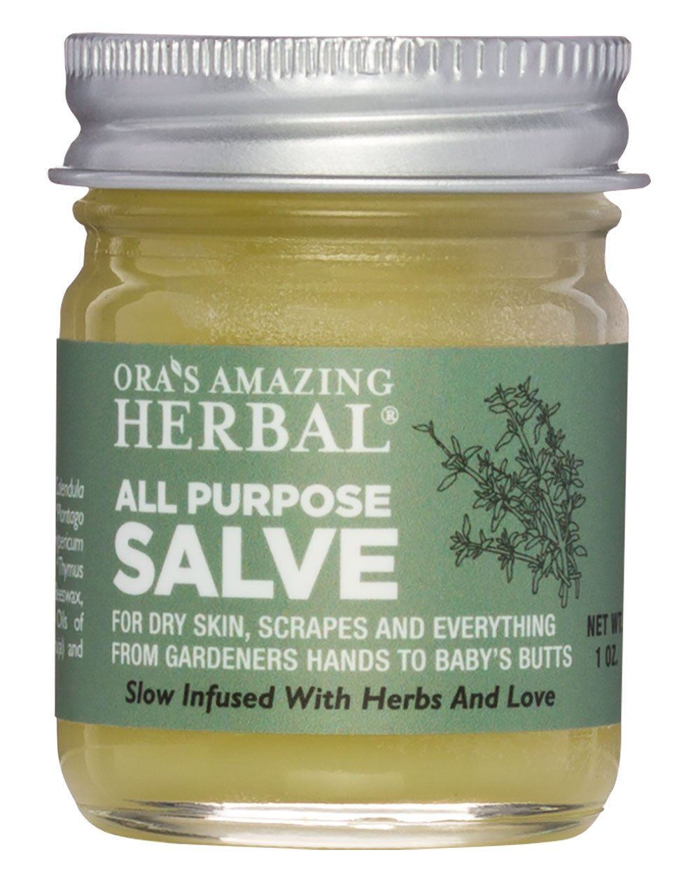 All Purpose Healing Salve Dry Itchy Skin Cracked Heels Hands Feet Scrapes Bites Minor Burns Natural Sunburn Relief First Aid Ointment with Tea Tree Oil Ora's Amazing Herbal Made In The USA Travel Size