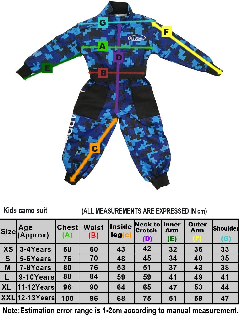 7-8 Years Leopard CUB Kids Motocross CAMO Suit 1PC Children Motorbike Motorcycle Jacket Clothing Karting Suit Yellow M