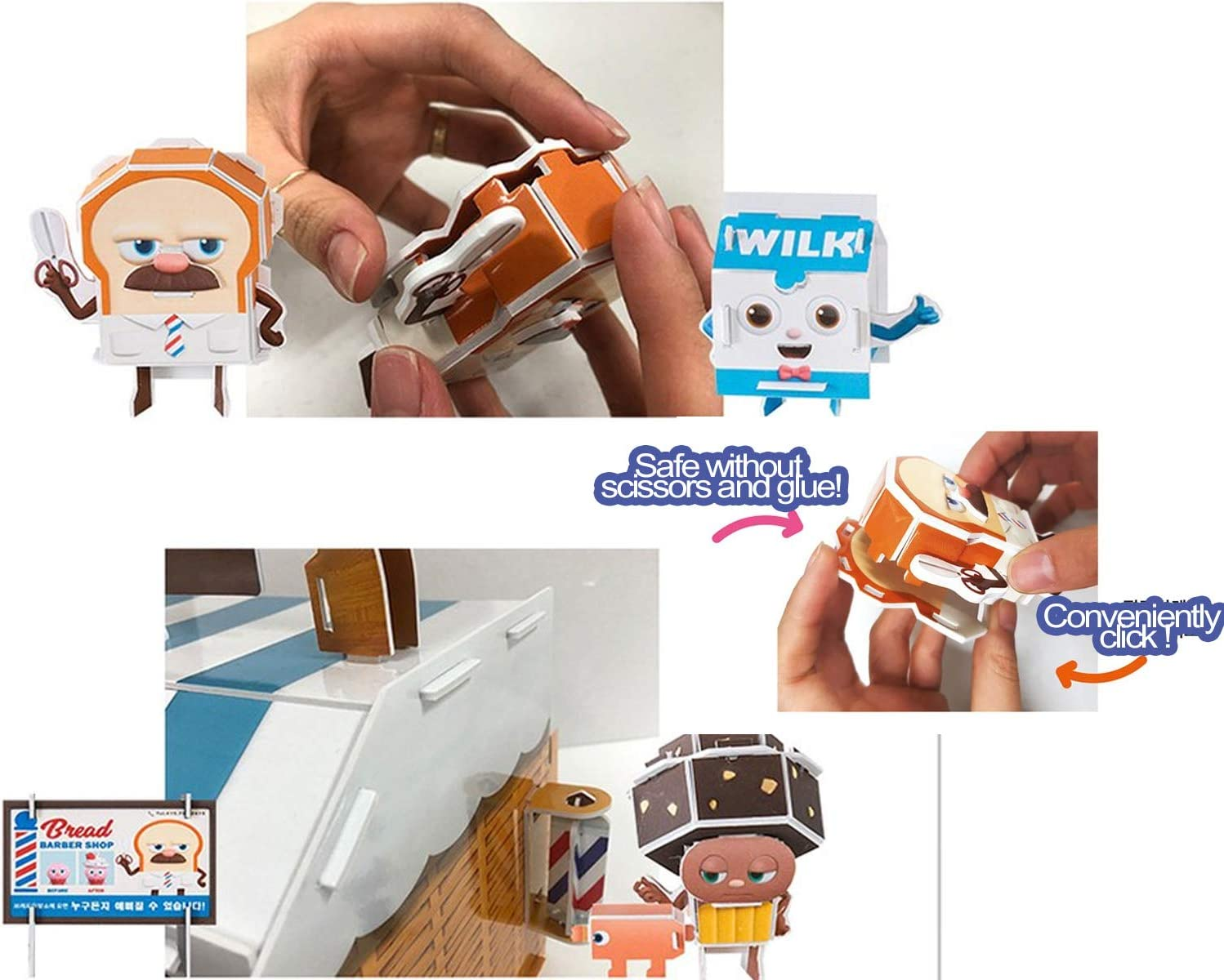 TV Character Item for Christmas Birthday Boys Girls Toy Figure Formpod Miniature Set Make Kit with Furniture /& Characters Bread Barbershop Lighted Miniature DIY Set