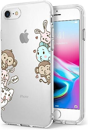 Caler Funda iPhone 7 iPhone 8 Case, Suave TPU Gel Silicona Ultra ...
