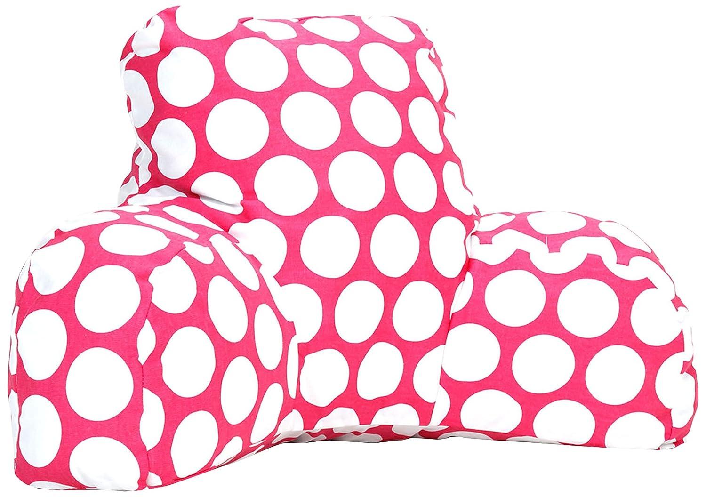 Black 85907213034 Majestic Home Goods Large Polka Dot Reading Pillow