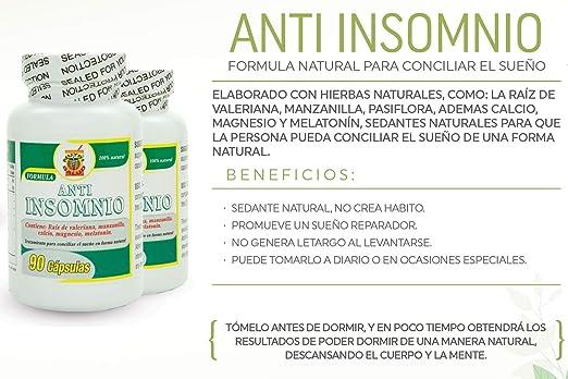 ... capsulas naturales para conciliar el sueño, Set de 2 frascos 90 capsulas c/u. No crean habito. Contienen: Valeriana, Manzanilla, Calcio, Magnesio, ...