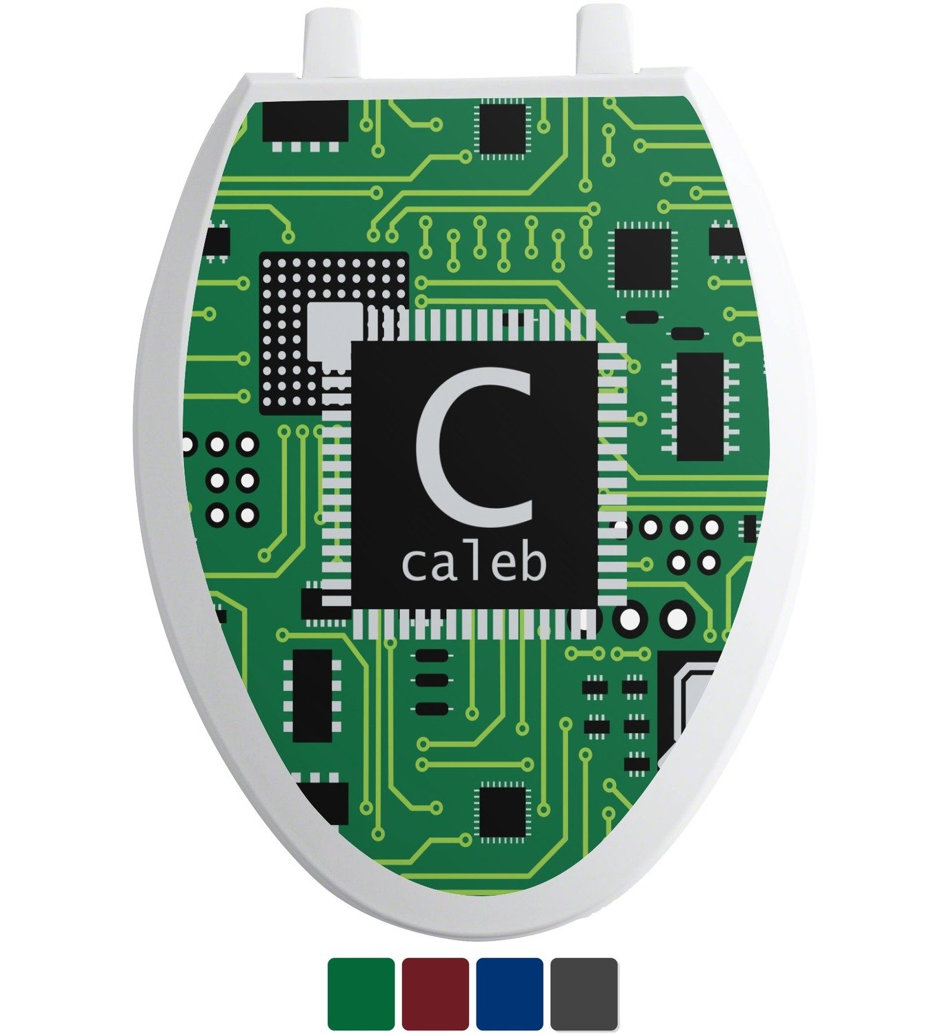 hot sale 2017 Circuit Board Toilet Seat Decal - Elongated (Personalized)