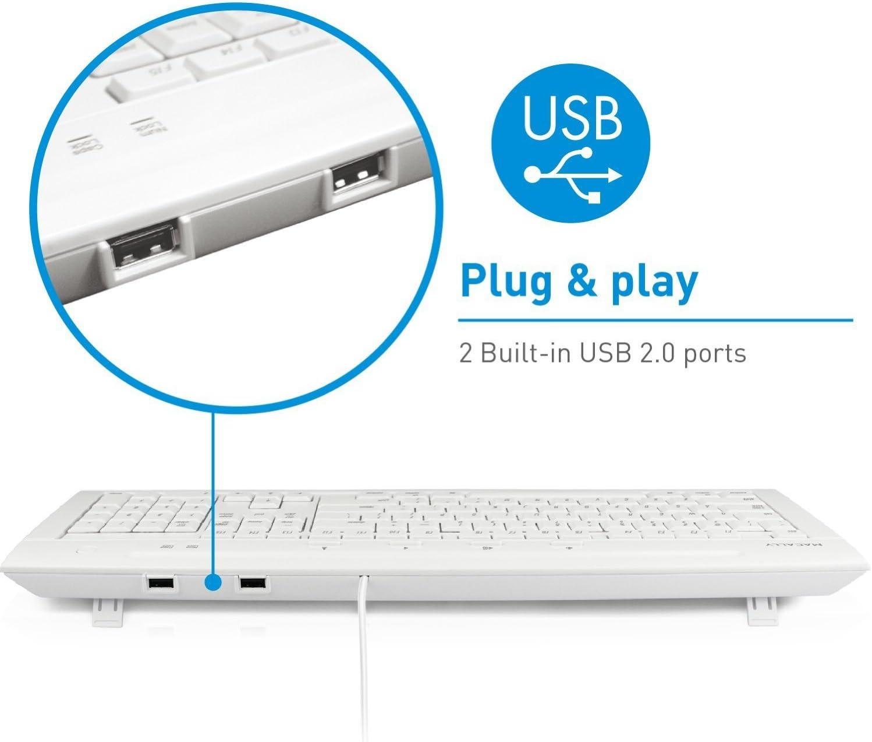 MACALLY iKey5Combo USB Keyboard /& USB Optical Mouse Combo