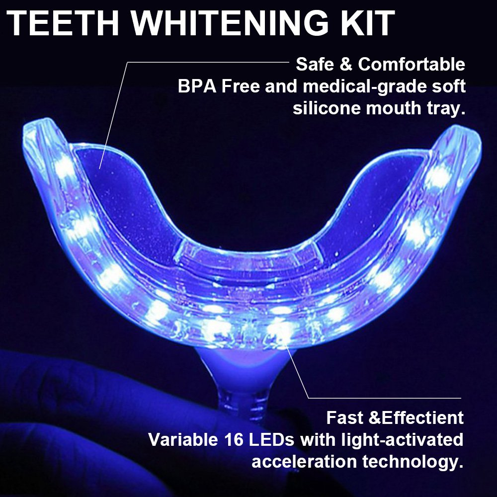 Grinigh At Home Professional Teeth Whitening Kit with 5 x Natural Activated Charcoal Tooth Whitener Gel Pen - FDA Approved - Easy to USe - Fast Results - More Than 50 Treatments