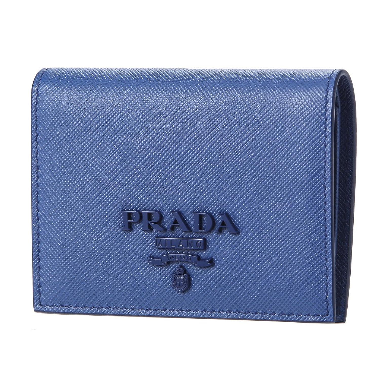 プラダ(PRADA) 2つ折り財布 1MV204 2EBW F0013 サフィアーノ シャイン ブルー 青 [並行輸入品] B07BHBQ44T