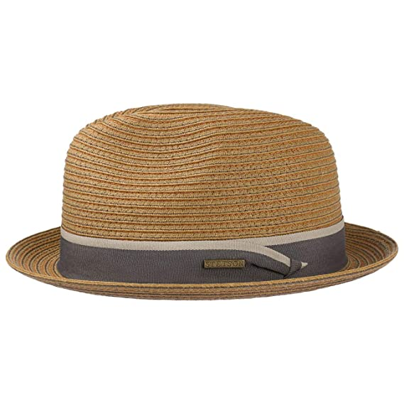 b32a45086d33d4 Stetson Colourstitch Toyo Player Hat Beach Sun (S (54-55 cm) - Light  Brown): Amazon.co.uk: Clothing